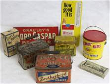 LOT OF VINTAGE ADVERTISING ITEMS 8 PIECES