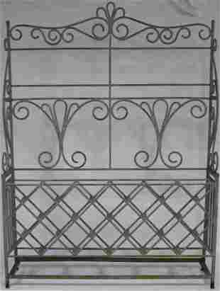 CUSTOM MADE WROUGHT IRON WINE RACK MADE FOR