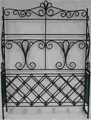 CUSTOM MADE WROUGHT IRON WINE RACK, MADE FOR