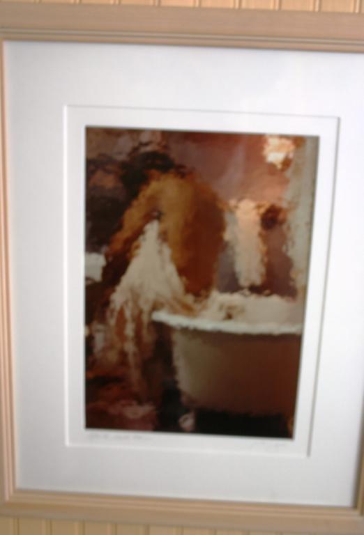 "22: FRAMED & GLAZED PHOTOGRAPH TITLED, ""AFTER THE BATH"""