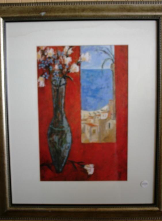 23: 2 FRAMED & GLAZED PRINTS OF WINDOW SCENES ARTIST SI