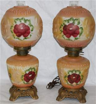 PAIR OF MID 20TH C. GONE WITH THE WIND LAMPS,