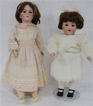 """23"""" GERMAN BISQUE HEAD DOLL, TODDLER, COMPOSITION"""