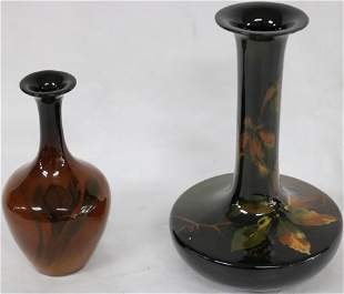 2 STANDARD GLAZED ART POTTERY VASES TO INCLUDED 7