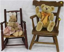 TWO 19TH C. CHILDREN'S CHAIRS TO INCLUDE GRAIN