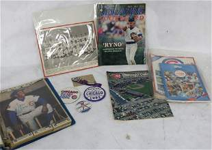 LARGE COLLECTION OF CHICAGO CUBS MEMORABILIA TO