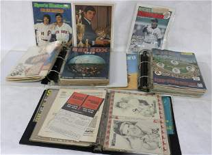 LARGE COLLECTION OF RED SOX MEMORABILIA TO