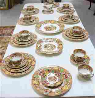 45 PC. DINNER SET COMPLETE FOR 6, MOSTLY FOR 8,