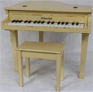 CHILDS SIZE SCHOENHUT BABY GRAND PIANO WITH