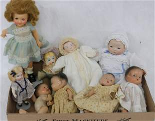 COLLECTION OF DOLLS TO INCLUDE COMPOSITION DIANE
