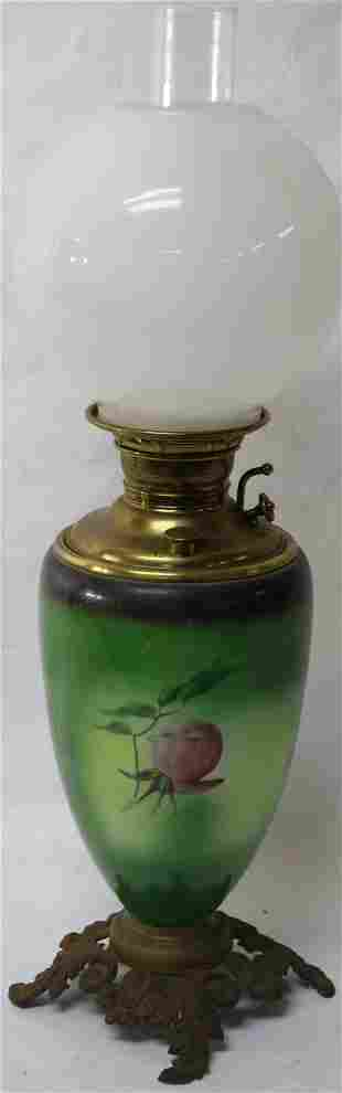 LATE 19TH C. GONE WITH THE WIND LAMP, THE JUNO
