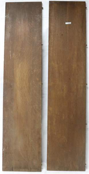 """2 SOLID QUARTERED OAK TABLE LEAVES, APPROX. 3/4"""""""