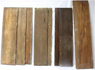 COLLECTION OF 9 OAK TABLE LEAVES TO INCLUDE SET