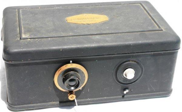 14: ATWATER KENT 1928 RADIO, MODEL #40 METAL CASE, OK C
