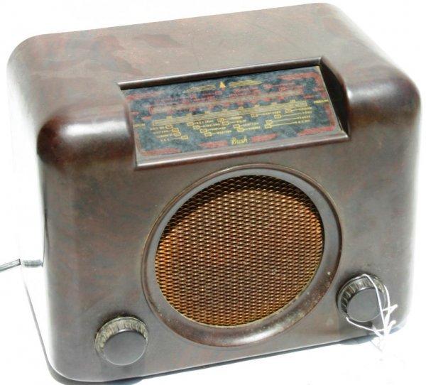 22: BUSH RADIO, MODEL 90? BAKELITE BROWN, 200-250 VOLTS