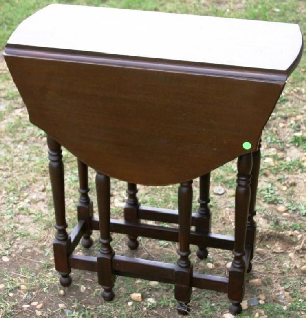 2: CUSTOM MAHOGANY GATELEG TABLE