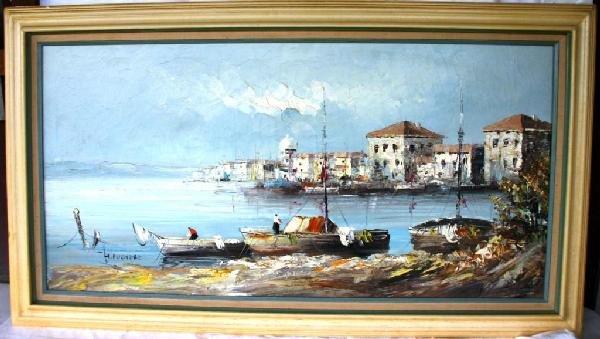 11: OIL ON CANVAS VENETIAN SCENE, ARTIST SIGNED