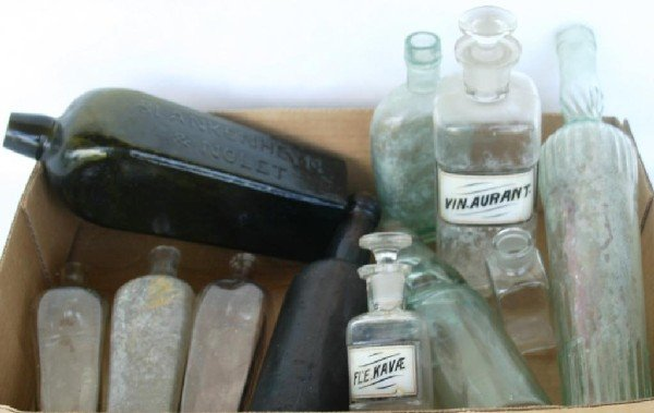21: COLLECTION OF MISC. EARLY BLOWN & MOLDED BOTTLES