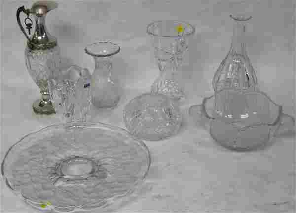 8 PCS. CLEAR & FROSTED CRYSTAL