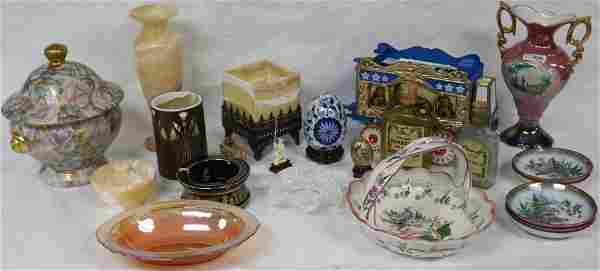 22 MISC. ITEMS TO INCLUDE EMPTY LIQUOR BOTTLE,