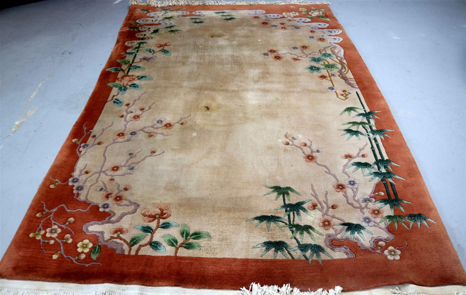 SMALL ROOM SIZE CHINESE RUG, NEEDS CLEANING,