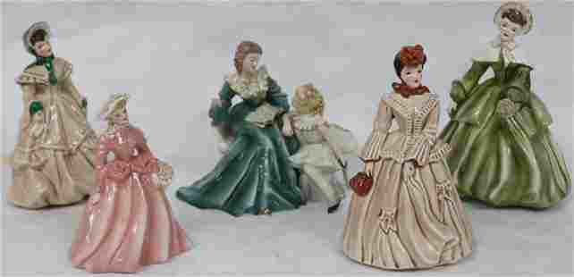 LOT OF 5 FLORENCE FIGURINES TO INCLUDE STORY BOOK
