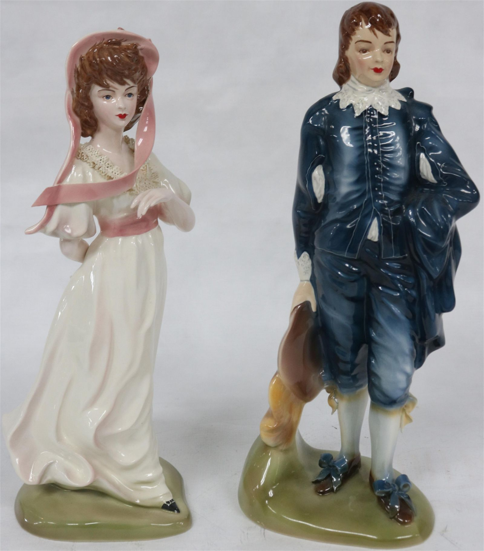 2 FLORENCE FIGURINES TO INCLUDE BLUE BOY & PINKY,