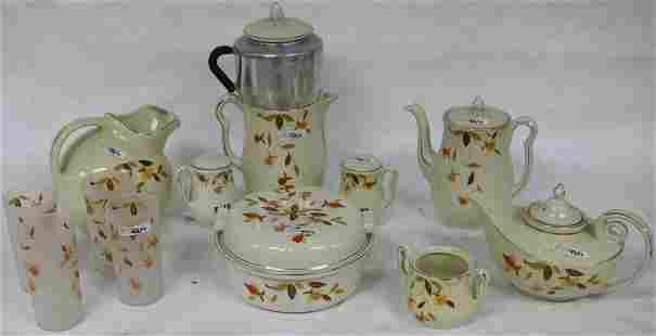 13 PCS. HALL JEWELED TEA TO INCLUDE 4 FROSTED