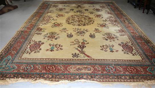 ROOM SIZE MACHINE MADE CHINESE DESIGN RUG, SHOWS