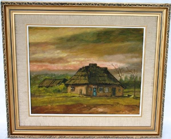 1B: OIL ON BOARD, COUNTRY COTTAGE, 1997, 16 X 20