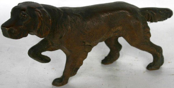 8: CAST BRONZE HUNTING DOG, MID 20TH C.