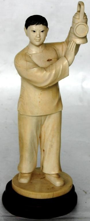 112A: ORIENTAL CARVED IVORY FIGURE OF