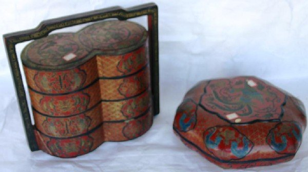 2: ORIENTAL LACQUERED STACKING BOX