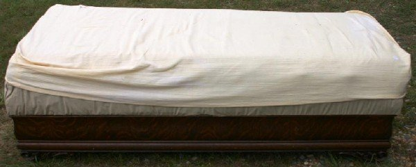 5: QUARTERED OAK LIFT TOP DAYBED WITH