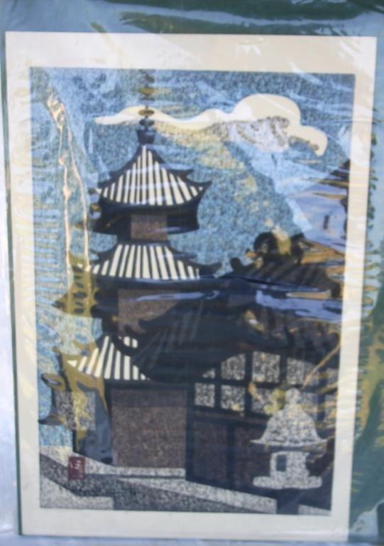 6: JAPANESE PRINT BY KIYOSHI SAITO, UNFRAMED