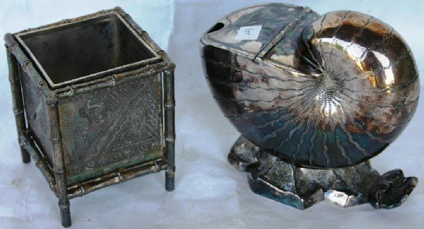 21: TWO FANCY PCS. OF VICTORIAN SILVER PLATE,