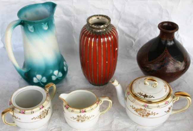 5: LOT OF 6 PORCELAIN ITEMS, TO INCLUDE