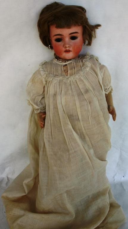 8: GERMAN BISQUE HEAD DOLL, OPEN MOUTH