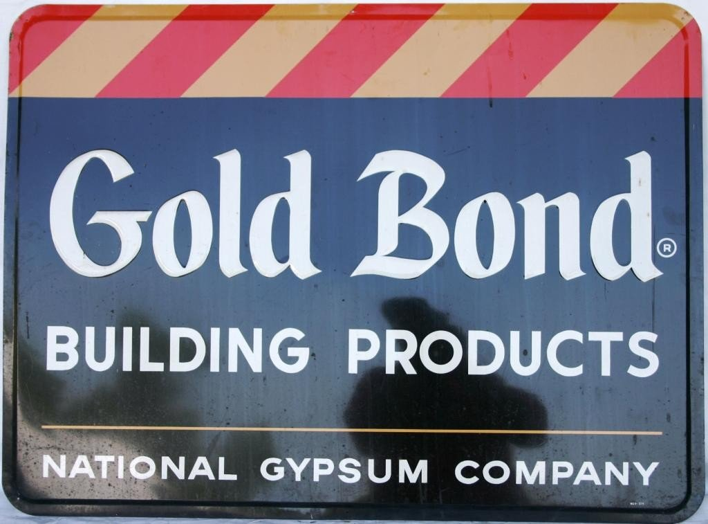2: LITHO TIN SIGN, GOLD BOND BUILDING PRODUCTS,