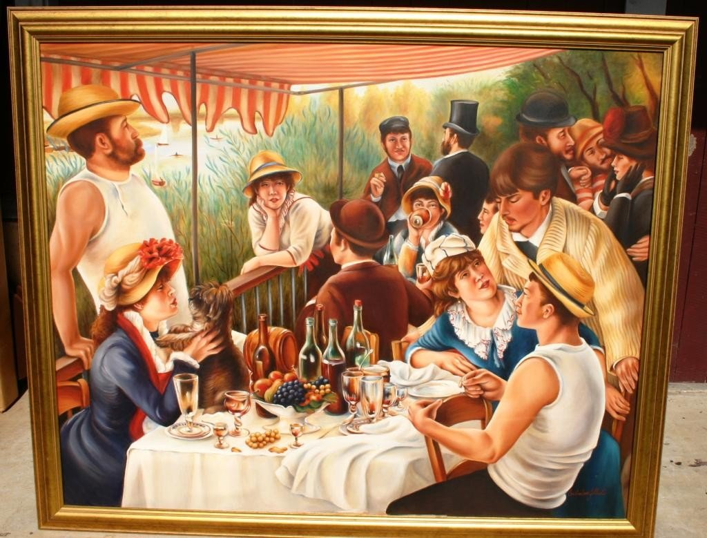 12: LARGE CONTEMPORARY OIL ON CANVAS, DEPICTING