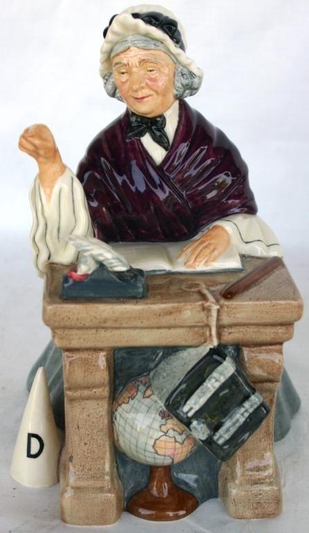 21: ROYAL DOULTON FIGURINE, SCHOOLMARM,