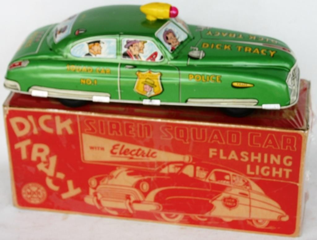 4: MARX LITHO TIN DICK TRACY SQUAD CAR #1