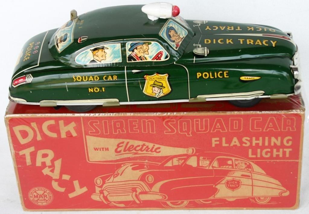 5: DICK TRACY LITHO TIN SQUAD CAR #1