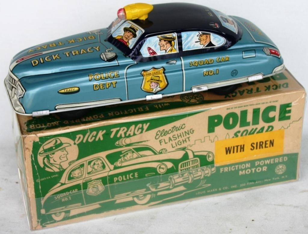 6: DICK TRACY LITHO TIN SQUAD CAR #1