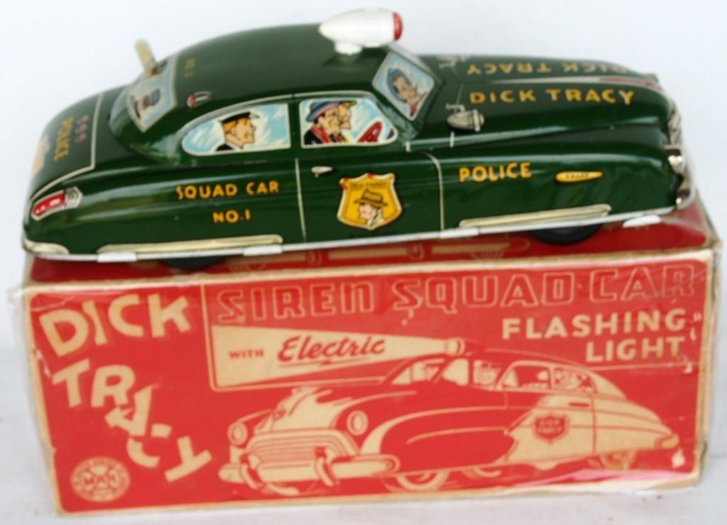 7: DICK TRACY LITHO TIN SQUAD CAR #1
