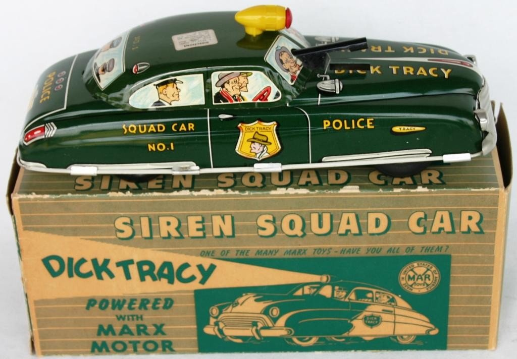 8: DICK TRACY LITHO TIN SQUAD CAR #1