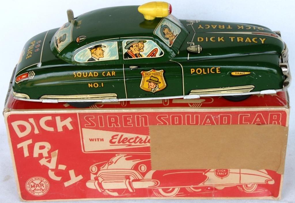 9: DICK TRACY LITHO TIN SQUAD CAR #1
