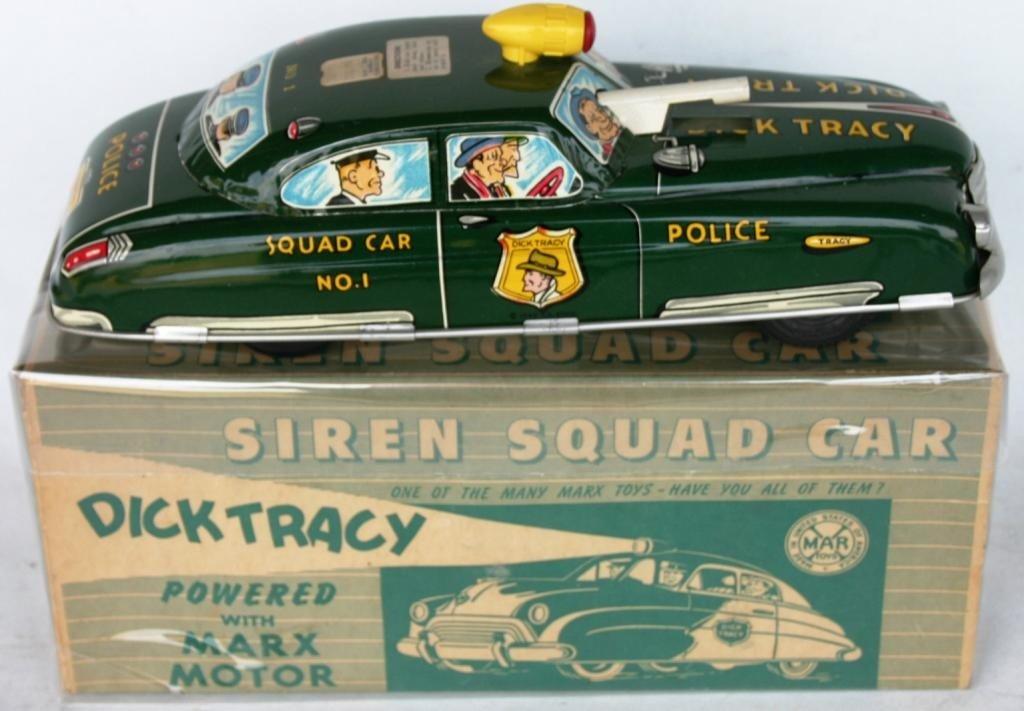 13: DICK TRACY LITHO TIN SQUAD CAR #1