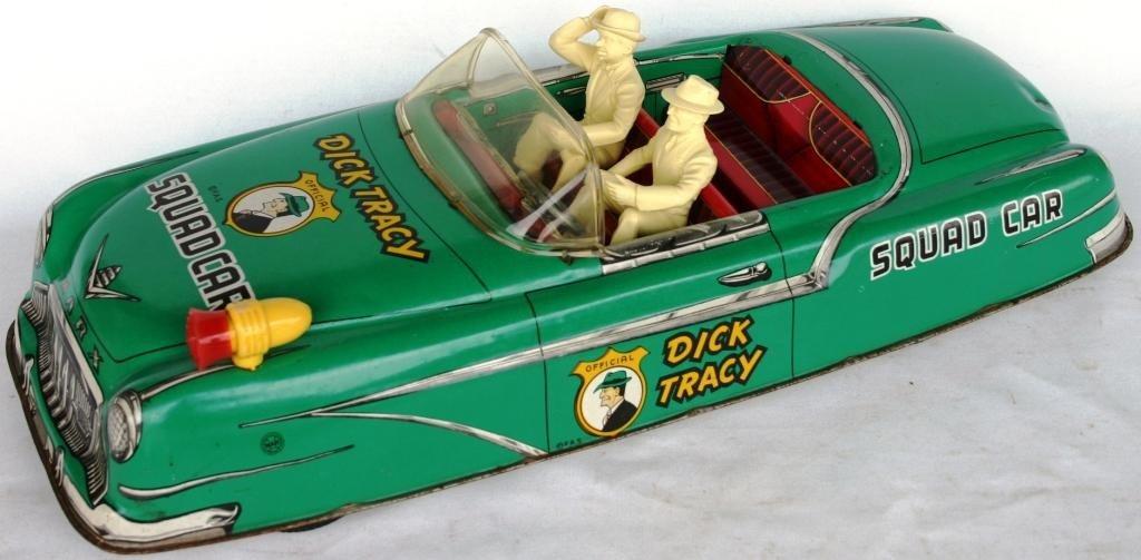 17: LARGE MARX LITHO TIN DICK TRACY OPEN SQUAD CAR