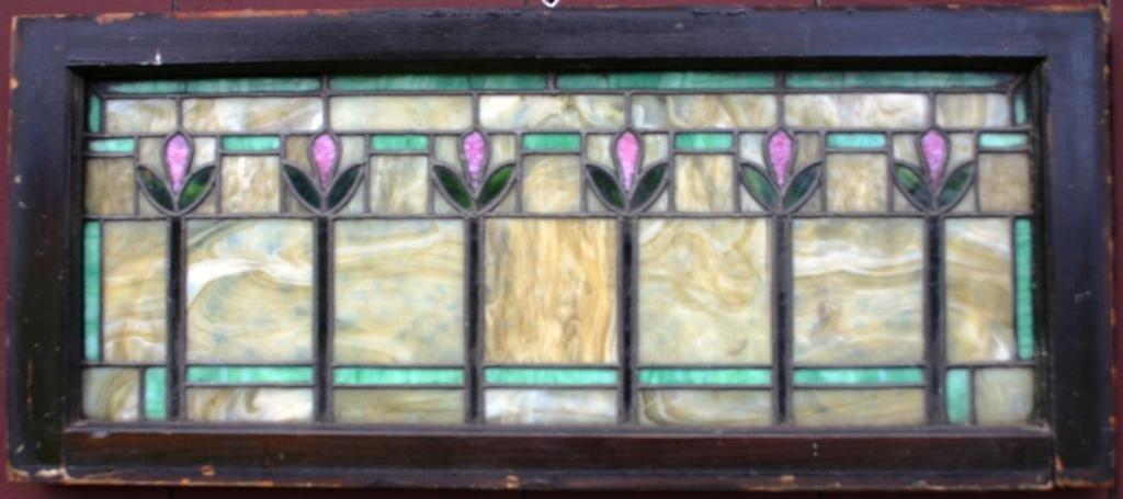 6: ARTS & CRAFTS LEADED GLASS WINDOW,